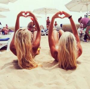 best friends, bikini, blonde, blonde hair, freak out, friends, girls ...