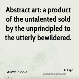 Al Capp Art Quotes