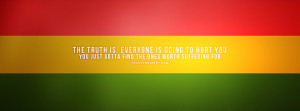 Find The Ones Worth Suffering For Bob Marley Quote Facebook Cover