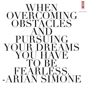 Arian Simone on overcoming obstacles. Arian Simone