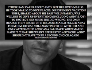 Ben Bass stated and I quote His feelings for Andy have never