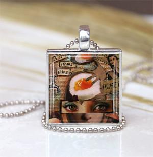 ... Dada Necklace,Dada Art Charm, Art Necklace, Dada Art jewelry, Art