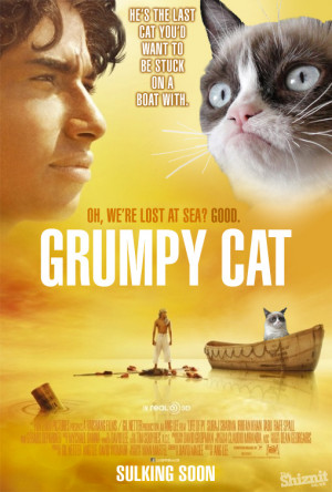 Grumpy Cat does Life Of Pi : click image for full-size picture
