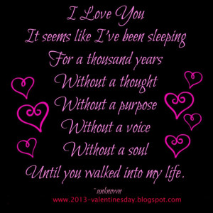 ... Love: It Is Seems Like I Have Been Sleeping For A Thousand Years Quote