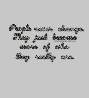 people never change quote