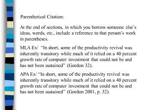 How do you do a Parenthetical Citation?