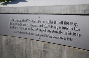 ... quotes from the remembrance walk around the memorial. Alex Farris