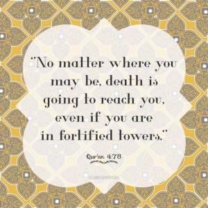 Quran 4:78 on death