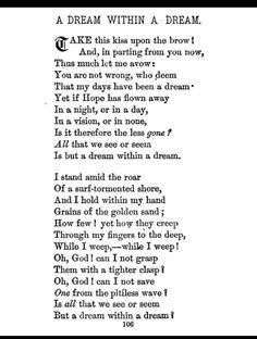 Dream- A Poem on Sorrow by Edgar Allan Poe