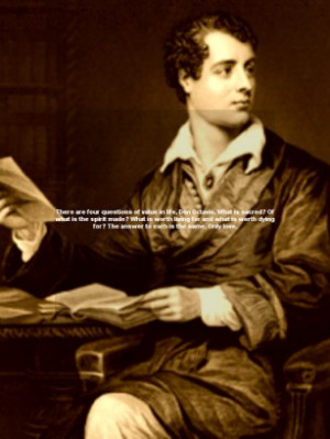Lord Byron quotes, is an app that brings together the most iconic ...