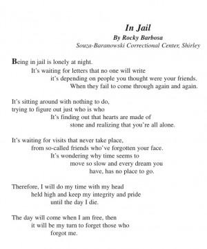 ... Quotes 3, Jail Quotes, Prison Wife Life, Prisoner Poems, Prison Love