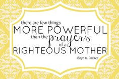 LDS Quote Printable Power of Mothers Prayer by BlondieDesignz, $5.00 ...