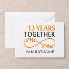 13th anniversary wedding Greeting Card for