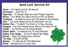 Good Luck Survival Kit In A Can. Humorous Novelty Fun Gift - Present ...