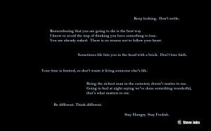 Simple Desktop Background – Steve Jobs's quotes