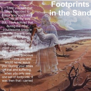 footprints in the sand poem | ... Home Page >> briteiis's Scrapbooks ...
