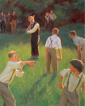 Pioneer Children Playing Games