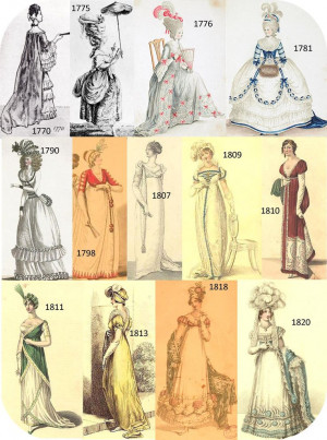 Late 1700s, early 1800s fashion plate
