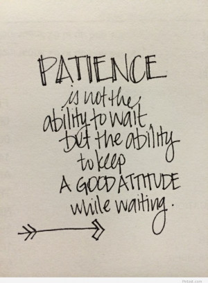 Patience wallpaper wall quotes