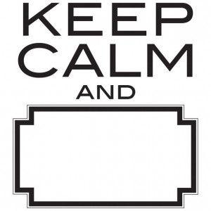 Keep Calm Dry Erase Wall Quote