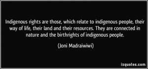 Indigenous rights are those, which relate to indigenous people, their ...