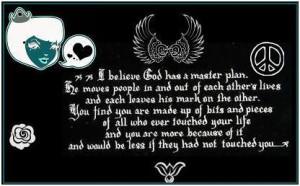 believe God has a mater plan