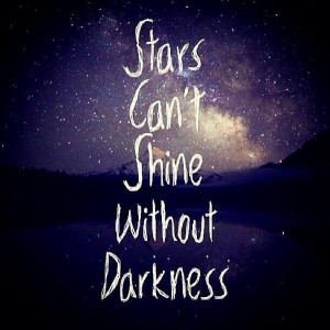 cute quotes, darkness, galexy, quotes, sparkle, stars