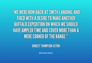 We were now back at Smith Landing, and fired with a desire to make ...
