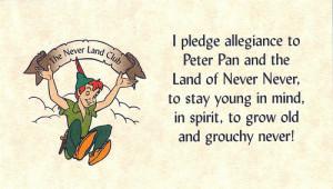 allegiance, disney, kid, neverland, peter pan, pledge