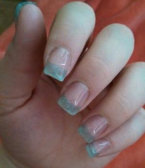 light blue acrylic nails