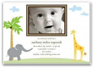 Cheap Birth Announcements and Considerations