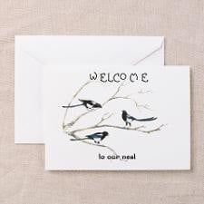Welcome To Our Nest Fun Quote Greeting Cards for