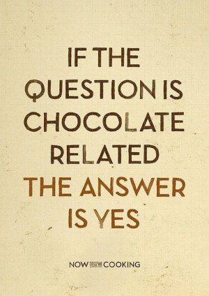 Belgian chocolate that is!