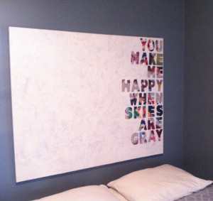 24. Quotes on Canvas Wall Art : Use magazine pages and patterned paper ...