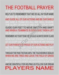 ... Prayers, Football Mom Prayer, Football Prayer, Baseball Prayer