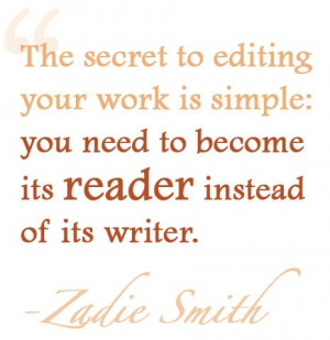 Zadie Smith on self-editing...