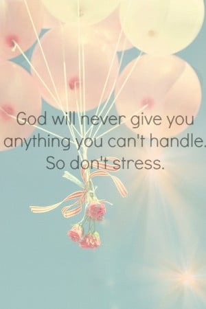 don't stress!