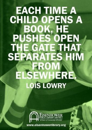 ... pushes open the gate that separates him from elsewhere.