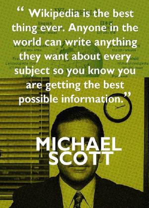 Michael Scott Wikipedia Quote