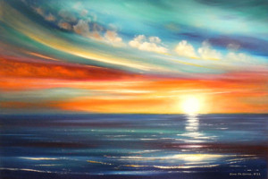 Colorful Sunset Paintings