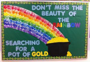 Beauty of the Rainbow - St. Patrick's Day Bulletin Board Idea