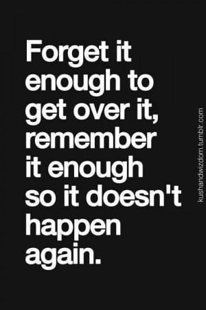 Don't let it happen again