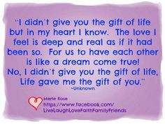 Love for my stepkids... More