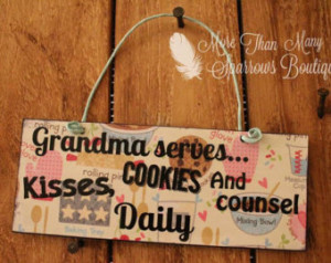 ... Quote Hanger | Baking and cookies Design | Mother or Grandmother Gift