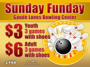anytime except during Friday and Saturday night glow bowling
