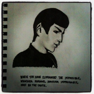 ... Spock quoting Sherlock #doodles #drawings #quotes @Carrie Penney