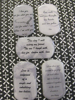 CHARM Love Sentiments Marriage Sayings Quotes Black & White - Charm ...
