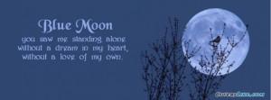 Blue Moon Facebook Timeline Cover