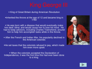 Important people of the American Revolution - King George III by ...