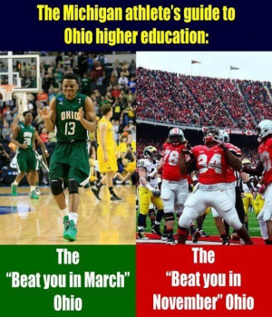 The Michigan athlete's guide to Ohio higher education, in case you ...